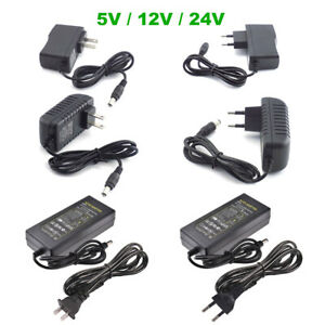 AC TO DC 5V 12V 24V 1A 2A 3A 5A 10A 0.5A Power Supply Adapter LED Strip Lights