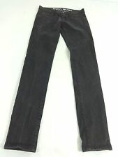 RVCA WOMENS BLACK WASH SKINNY JEANS SIZE 26