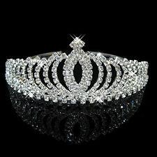 Wedding Bridal Womens Girls Pageant Prom Birthday Crystal Tiara Crown Headband