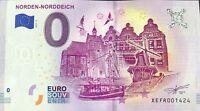 BILLET 0 EURO NORDEN NORDDEICH  ALLEMAGNE 2019-2 NUMERO DIVERS