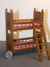 Dollhouse Miniature Bunk Bed Beds Walnut 1:12 inch scale F70 Dollys Gallery