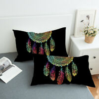 Multicolor Dreamcatcher Pillow Case Cover Polyester Pillowcases Boho Bedding 2X