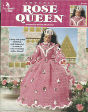Rose Queen Fairy Tale Crochet Barbie Fashion Doll Dress Gown Pattern Annie's NEW
