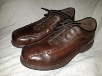 Rockport DMX Men Brown Leather Bicycle Toe Casual Lace Up Oxford US Size 11.5W