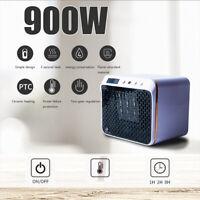 900W Electric Heater Fan Timing W/Temperture Fast Warm Safety Portable   z