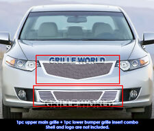 For 2009-2010 Acura TSX Stainless Steel Mesh Grille Grill Combo Insert