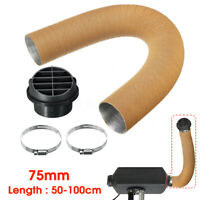 75mm Heater Pipe Duct + Warm Air Outlet + Hose Yellow For Eberspacher Diesel