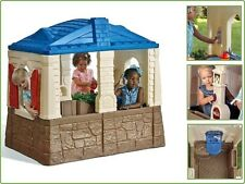 Cottage Playhouse Step2 Neat Tidy For Toddlers Fun Playful In/Outdoor - Blue