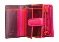 Visconti RB40 Lady Girl Multi-Color Soft Leather Mini Wallet Purse ID Coin Cards