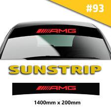 AMG Sunstrip per MERCEDES ADESIVI auto decalcomanie strisce PARABREZZA