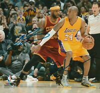 Kobe Bryant /LeBron James Autographed Signed 8x10 Photo ( HOF Lakers ) REPRINT ,