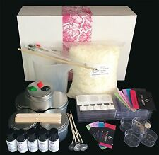 Soy Candle Making Kit with POURING JUG, Tins,TealightsThermometer,Melts &Labels