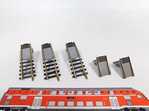 CU475-0,5# 5x Fleischmann H0 Gleis (aus 6053) für 6052/6052 C Drehscheibe NEUW