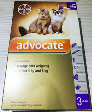 3 x 0.8mL ADVOCATE FOR LARGE CATS 4 - 8 KG