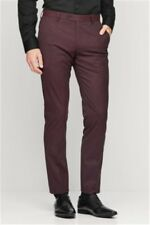 Next Burgundy Suit Trousers 32L TD171 BB 09