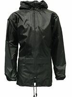 New Mens Womens Kagool Unisex Plus Size Lightweight Rain Showerproof Coat Jacket