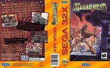 Metal Head Sega 32x remplacement Box Art Case Insert Cover SCAN