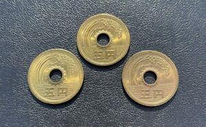 Japan Japanese 5 Yen Coins (3)