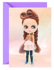 Blythe Doll Card / Blank Birthday Any Occasion Card