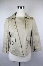 $1450 New Authentic Gucci Women Tan Cotton Jacket 42 169686 9801