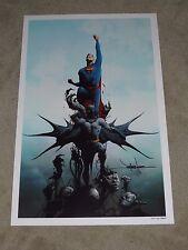 2015 SDCC SUPERMAN - BATMAN ART PRINT SIGNED BY JAE LEE 11x17