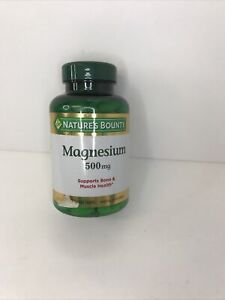 Nature's Bounty Magnesium 500 mg Mineral Supplement - 200 Tablet Exp 01/23