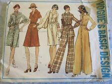 VTG 1973 VOGUE BASIC DESIGN SEWING PATTERN SIZE 16 DRESS TUNIC PANTS