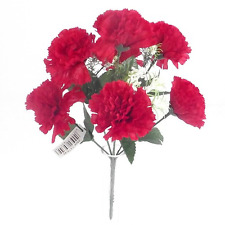 1 x Bunch of Red Carnatations with Gyp 7 flowers