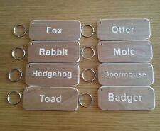 LODGE CHALET HOLIDAY HOME BUSINESS  EXTRA LARGE WOODEN KEYRING PERSONALISED FOB