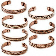 Pure Copper Powerful Magentic Cuff Lot of 7 Pieces Bracelet Pain Relief Magnetic