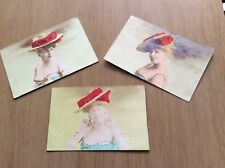 THREE (3) Vintage Postcards ~ c1900's ~ (Wishy-Washy Colour) POSTKARTE.