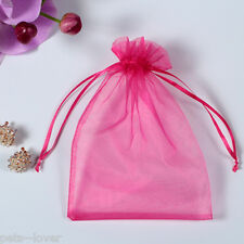 UK LUXURY Organza Gift Bags Jewellery Pouch XMAS Wedding Party Candy Favour