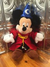 "MICKEY MOUSE WIZARD 13"" PLUSH DOLL, Walt Disney World, Bean Bag"