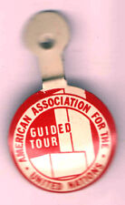 old UNITED NATIONS pin American Association Guided Tour UN U.N. U. N.