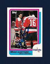 Mike Gartner signed Washington Capitals 1986 Topps hockey card