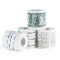 Novelty 1 roll 100Dollar Bill US Money Soft toilet paper tissue napkin prank fun