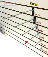 "6"" Slatwall Metal Hooks (24-006CH) - 25 Piece - Chrome (NEW)"