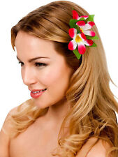 New Hot Pink Hibiscus Flower Hair Clip Fancy Dress Bridal Hawaiian Luau Party