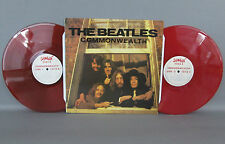 THE BEATLES 'COMMONWEALTH' 1987 USA DOUBLE RED COLORED VINYL LPs SHOGUN 13112 EX