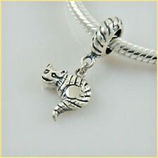 CAT Charm Bead Dangle 925 Sterling Silver