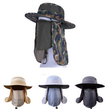 360° Outdoor UV Protection Ear Flap Neck Cover Sun Hat Breathable Fishing Hiking