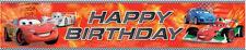 CARS Party Banner 1.5m x .3m Birthday Kids Decoration