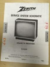 Zenith Service Manual Schematic for the D2568W TV Receiver    mp