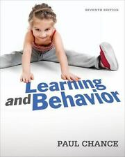 Learning and Behavior by Paul Chance (2013, Paperback)