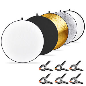 Neewer 5-in-1 Collapsible Multi-Disc Light Reflector for Studio Photography