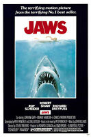 Home Wall Art Print - Vintage Movie Film Poster - JAWS - A4,A3,A2,A1