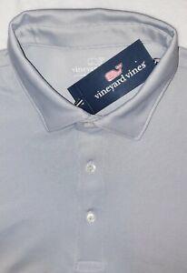 Vineyard Vine Performance Golf Polo Shirt Mens XL NWT Grey