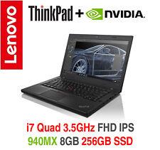 ThinkPad T460p i7 Quad 3.5GHz nVIDIA 940MX FHD IPS 8GB 256GB 2Y OS Warranty