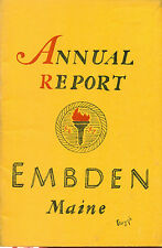 1957 ANNUAL REPORT of the Town of Embden, Maine