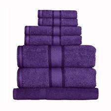 Purple 100% Cotton Towel Range Sets or Pcs Bath Sheet Towel Hand Face Washer Mat